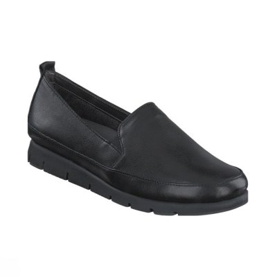 Aerosoles Fast Lane / Black mjuk skinn loafers