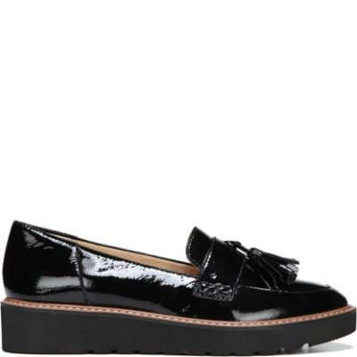 Naturalizer August / Black Patent Leather loafer lågsko lack
