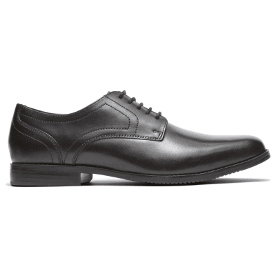 Rockport Style Purpose Plain Toe / Svart skinn finsko herr