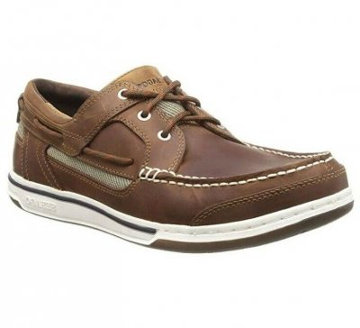 Sebago Triton Three Eye Navy Brun Cinnamon seglarsko deckshoe