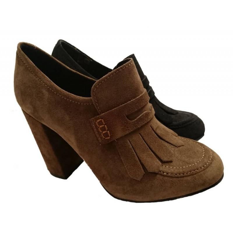 loafers med hög klack