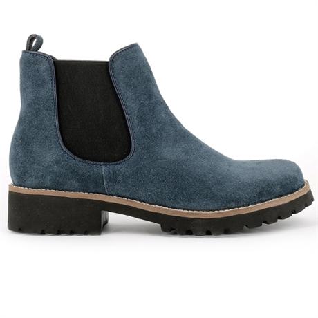 blå mocka boots