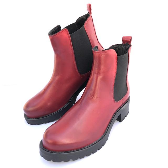Rosa Negra Chelsea Boot Dark Red